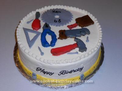 Homemade Carpenter Birthday Cake