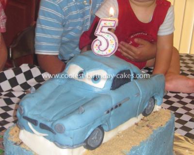 Homemade CARS 2 Finn McMissile Cake