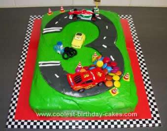 Homemade Cars 2 Race Track Birthday Cake