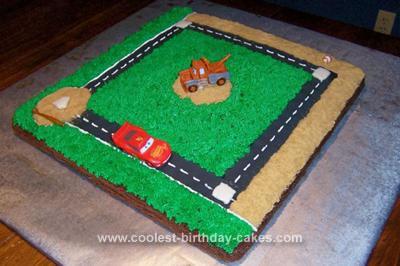Homemade Cars Baseball Cake
