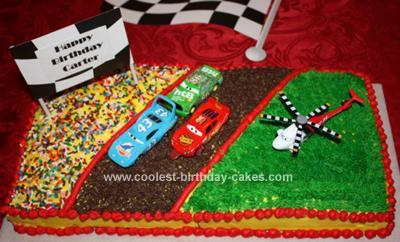 HomemadeCars Birthday Cake