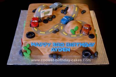 Homemade Car's Birthday Cake