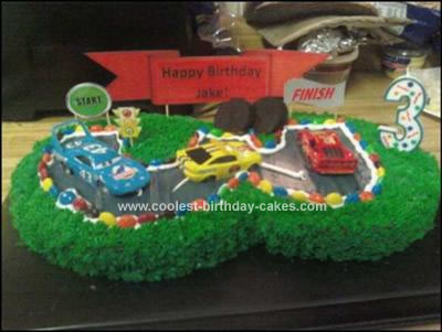 Homemade  Cars Birthday Cake