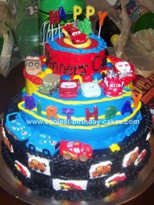 Cars Birthday Cake on Cars Cake
