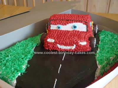 Homemade Cars Cake