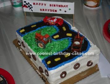 Cars Scene Cake