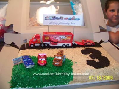 Homemade Cars Ice Cream Birthday Cake