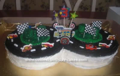 Homemade Cars Race Track Cake