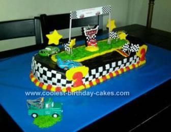 Homemade Cars Racetrack Cake