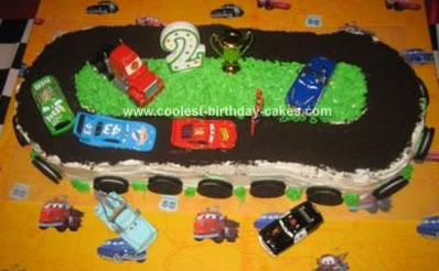 Homemade Cars Racetrack Cake