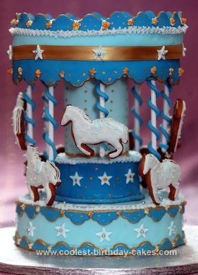 Homemade Carsousel Birthday Cake
