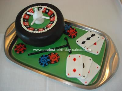 Homemade Casino Cake