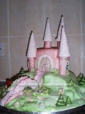 Birthday Flower on Coolest Castle Birthday Cake 252