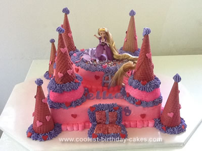 Tangled Birthday Cake on Coolest Castle Birthday Cake 596