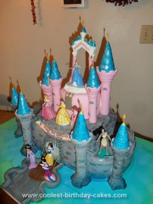 Homemade Castle Birthday Cake