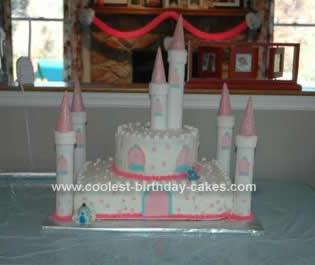Homemade  Castle Birthday Cake Design