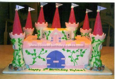Homemade Castle cake