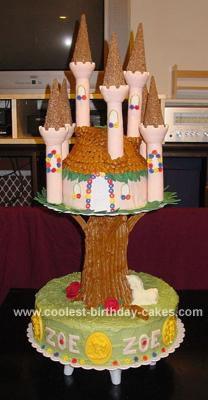 Zoe's Unicorn Fairy Castle Cake