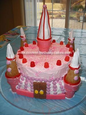 Gabi's Pink Castle Cake