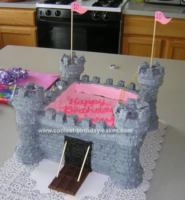 Homemade Castle Fortress Cake