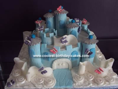 Homemade Castle in the Clouds Birthday Cake