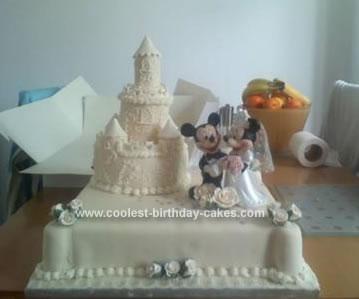 Homemade Castle Wedding Cake