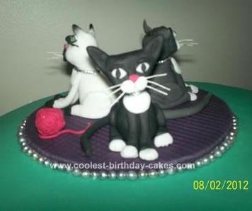 Homemade Cat 50th Birthday Cake