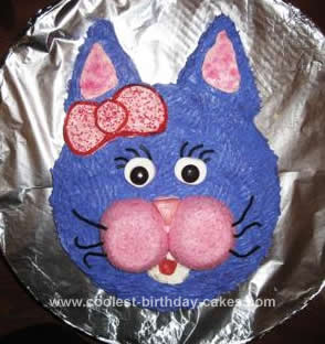 Homemade Cat Birthday Cake