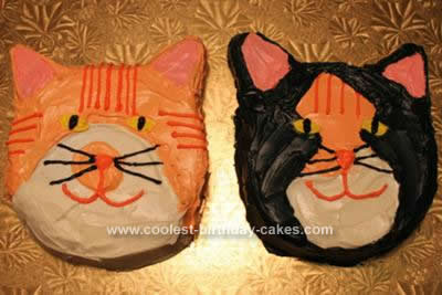 Homemade Cat Birthday Cakes