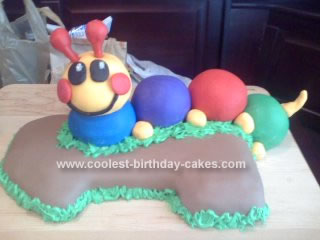 Homemade Caterpillar Cake