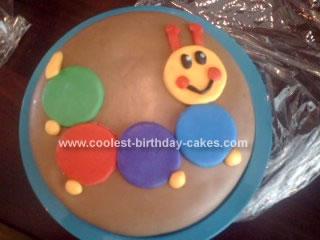 Homemade Caterpillar Cake