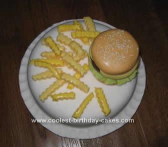 Homemade Cheese Burger Cake