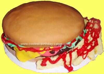 Homemade Cheeseburger Cake