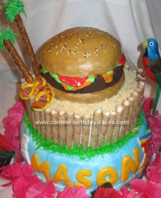 Homemade Cheeseburger in Paradise Cake