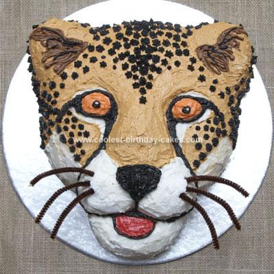Homemade Cheetah Cake from Africa