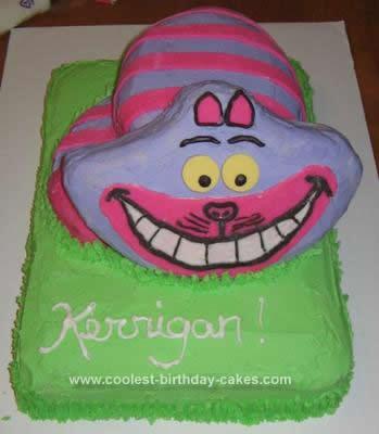 Homemade  Cheshire Cat Cake