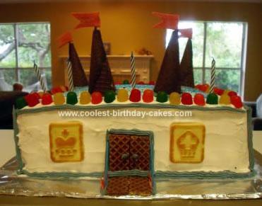 Homemade Chess Castle Birthday Cake