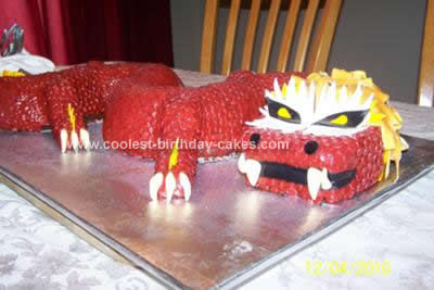 Homemade Chinese Dragon Birthday Cake