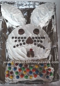Homemade Chocolate Bunny Cake