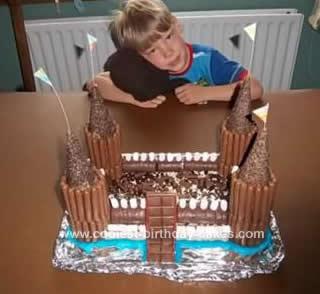 Homemade Chocolate Castle Birthday Cake