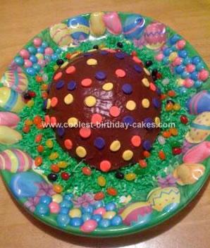 Homemade Chocolate Easter Egg Cake