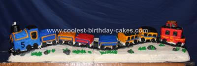 Homemade Choo Choo Train Birthday Cake
