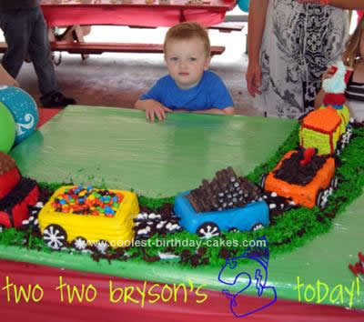 Coolest Choo Train Birthday Cake