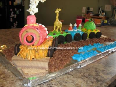 Homemade Choo Choo Train Cake