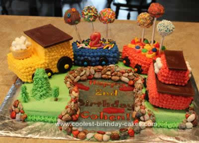 Homemade Choo-Choo Train Cake