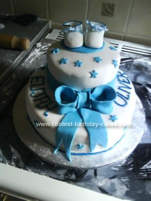 Homemade Christening Cake
