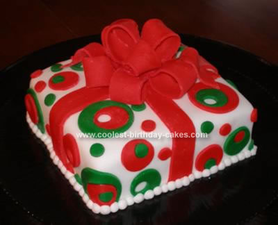 Homemade Christmas Present Cake