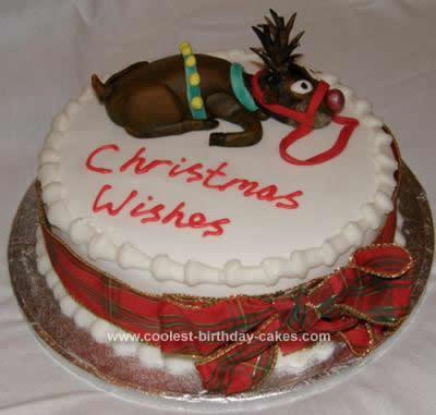 Homemade Christmas Reindeer Cake