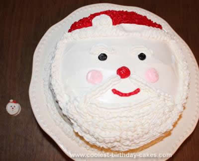 Homemade Christmas Santa Clause Cake