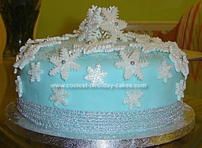 Homemade Snowflake Christmas Cake